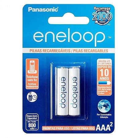 Pilha AAA RecarregávelL ENELOOP 800MA AAA BLISTER COM 2pç BK-4MCCE/2BB Panasonic
