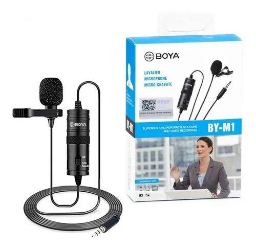 Microfone Boya Lapela BY-M1 para Smartphone e Câmera