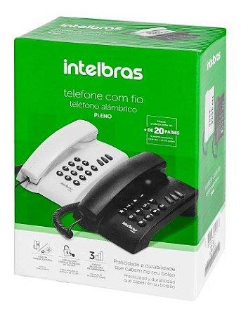 Telefone  Com Fio Funcao PABX 2 Niveis de Volume Pleno Intelbras