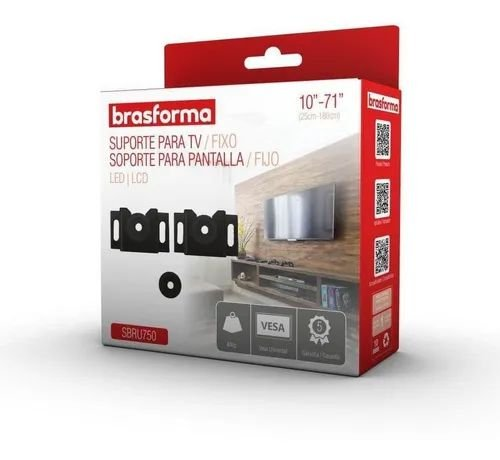 Suporte TV LED/ LCD/Plasma/3D e Smart TV DE 10 a 71 Bbrasforma SBRUB 750