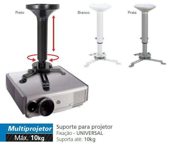 Suporte / Base de Projetor Multivisão com altura Regulável de 500 a 800mm - MULTIPROJETOR-G