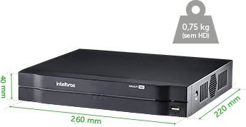 DVR 4 CANAIS digital INTELBRAS MHDX 1004 MULTI HD