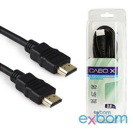 CABO HDMI x HDMI 1,00 METROS 2.0 4K EXBOM