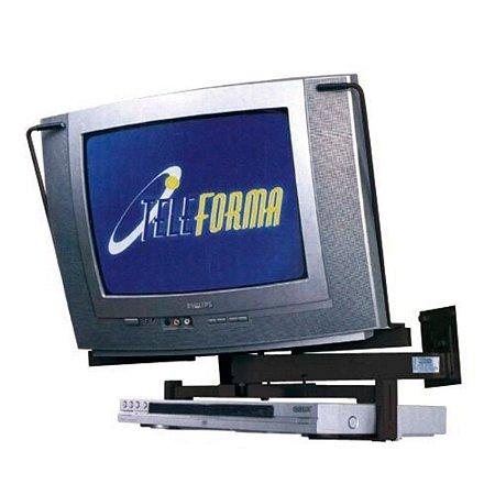 Suporte Para Tv Crt Tubo De 14 A 20 E Dvd Stv10 Multivisão