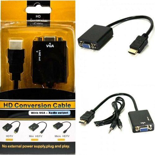 CONVERSOR ADAPTADOR HDMI PARA VGA  VHA HDMI