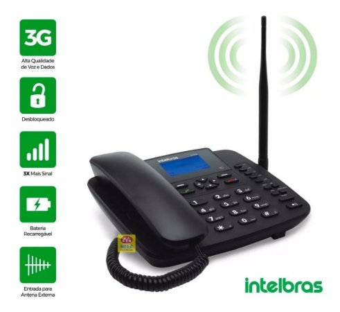 Telefone Celular Rural Fixo Intelbras CF 6031 3G - intelbras