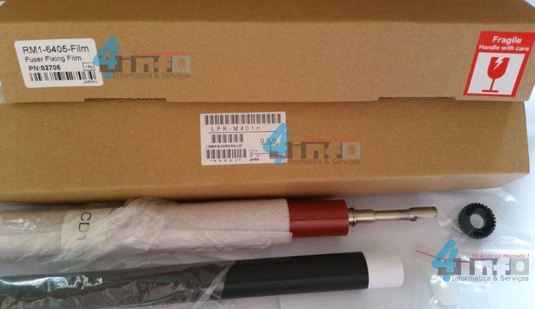 Kit Fusor OEM Pelicula + Pressor + Buchas HP LJ P2035 P2055 M401 M425 RM1-6405