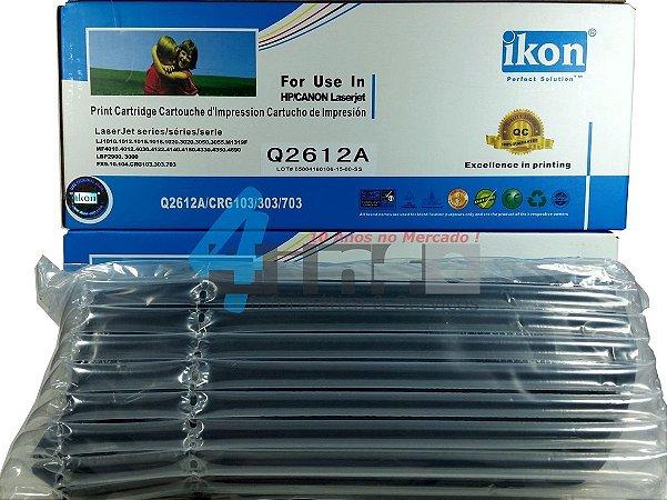 Toner Ikon Compativel 100% Novo Hp Lj 1010 1012 1015 1018 1020 1022 3015 3020 3030 3052 3055 M1005 M1319 Q2612A 2612A 12A