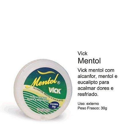 Pomada Mentol Vick 30g Caixa com 12 Pomadas