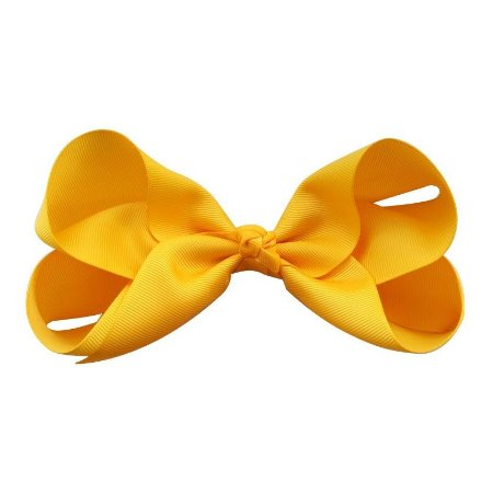 "Laço tipo borboleta ""Super Grande"" - cód. 17.198 - Amarelo"