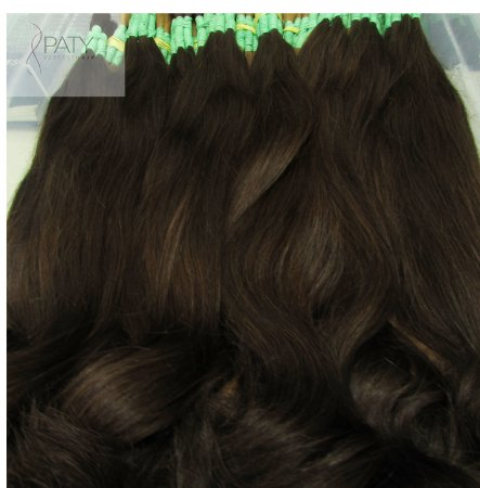 Cabelo Natural Russo Liso Marrom - 70 cm