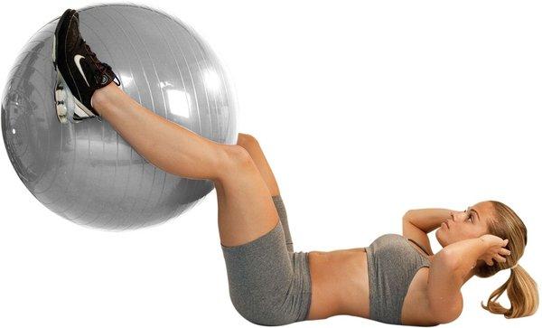 Bola Suíça Gym Ball Para Pilates e Yoga 75 cm
