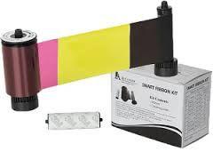 YMCKO - Fita colorida com resina preta e overlay - 250 impressões SMARTCH