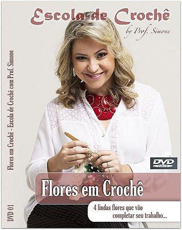 DVD Flores de Crochê passo a passo