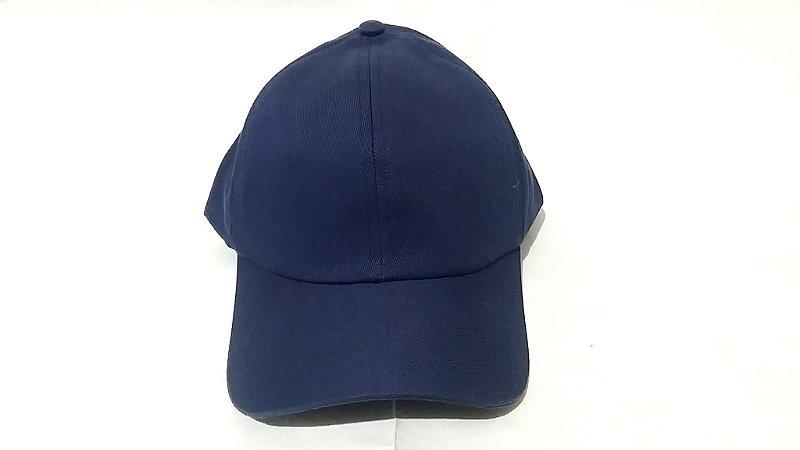 Boné Brim de Velcro Azul Escuro