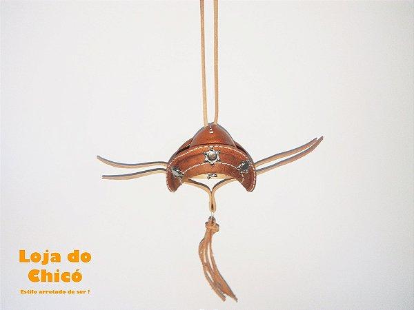 88cc1ddb31559 Chapéu de Couro Cangaceiro - Enfeite para retrovisor interno - Loja ...
