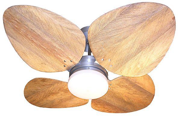 Ventilador de Teto Personalizado Aruba - 4 pás Fibra de Coco - Luminária Drops Opalino