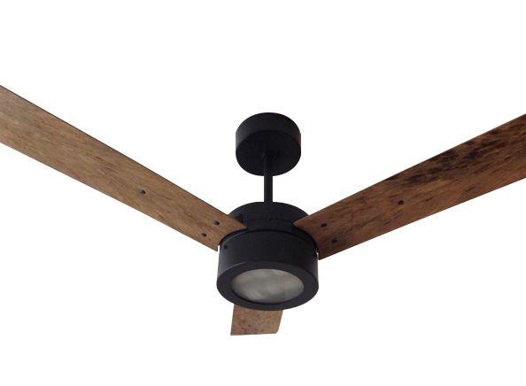 Ventilador de Teto Personalizado Copolla - 3 pás Fibra de Coco - Luminária New Jateado