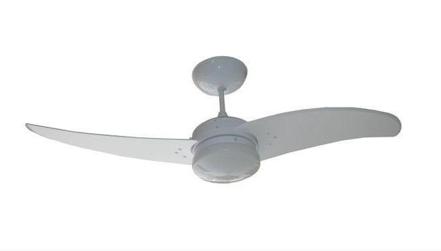 Ventilador de Teto Personalizado Aero - 2 pás MDF Branco - Luminária Drops Leitoso