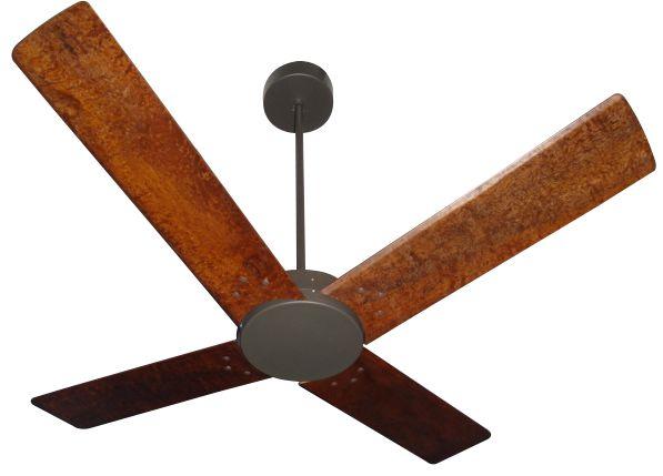 Ventilador de Teto Personalizado Copolla - 4 pás Madeira - Sem Iluminação (tampa reta)