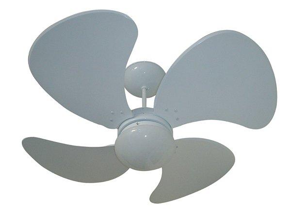 Ventilador de Teto Personalizado Splendor - 4 pás Laca Branco - Luminária Flat Opalino