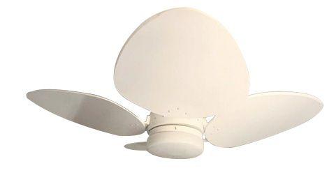 Ventilador de Teto Personalizado Aruba - 4 pás Laca Branca - Luminária Drops Opalino