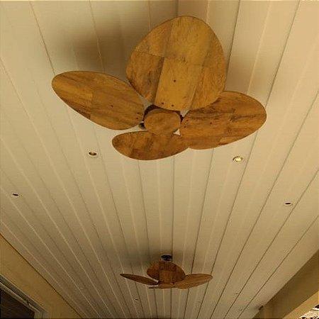 Ventilador de Teto Personalizado Aruba - 4 pás Fibra de Coco - Sem Luz - Tampa Reta Revestida