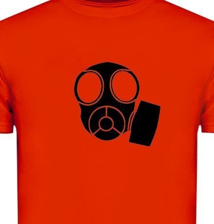 ST097 - Camiseta - Estampa Máscara em Recorte a Laser