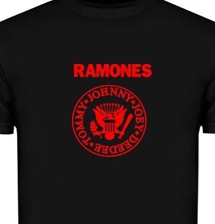 ST104 - Camiseta - Estampa Ramones em recorte Laser