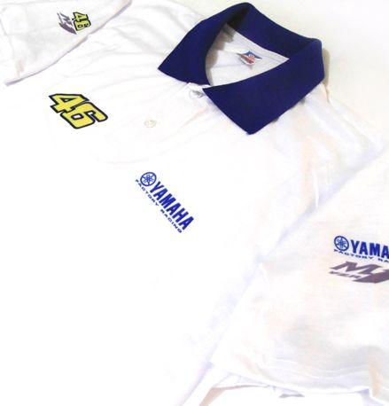 ES027 - Camisa Pólo Dry Fit - Estampa Equipe Yamaha Valentino Rossi Moto GP