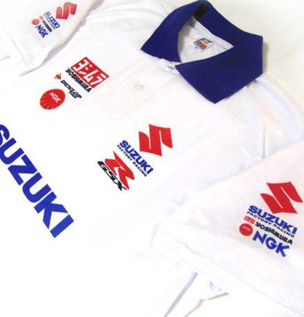 ES031 - Camisa Pólo DRY FIT - Estampa Equipe Suzuki Moto GP