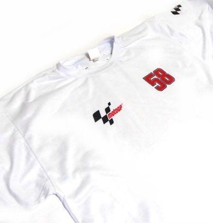 ES038 - Camiseta Dry Fit Marco Simoncelli 58 - MOTO GP