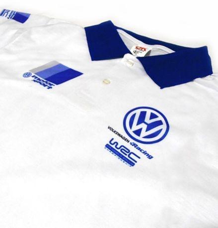ES045 - Camisa Pólo Dry Fit - Estampa Volkswagen Racing  WRC Motor Sport