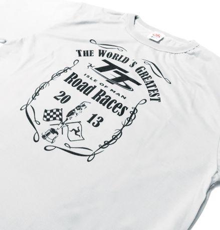 ES050 - Camiseta Dry Fit - TT ISLE OF MAN - cor: BRANCA