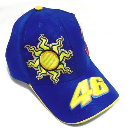 CB004 - Boné Bordado - Estampa Valentino Rossi 46 - Cor: Azul