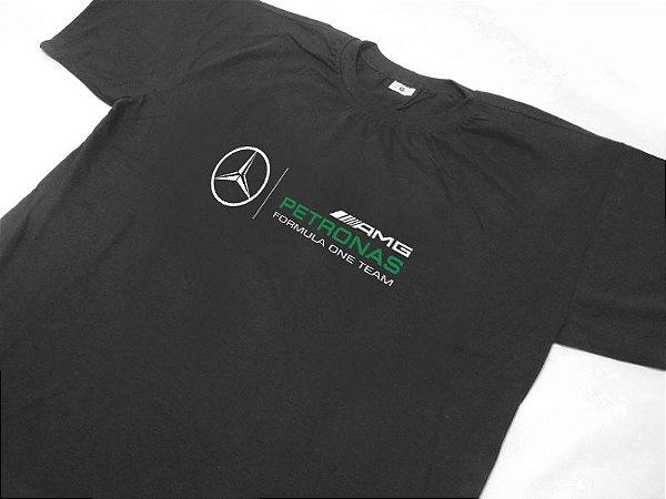 FR122 - Camiseta AMG - Mercedes PETRONAS F1 - Cinza grafite