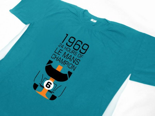 FR124 - Camiseta GULF Racing 24 horas LE MANS CHAMPION - 1969