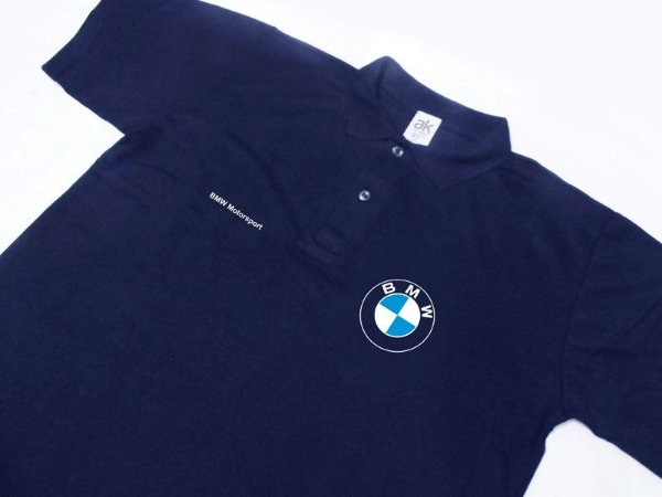 FR128-A - Camisa POLO Piquet - BMW MOTORSPORT - azul