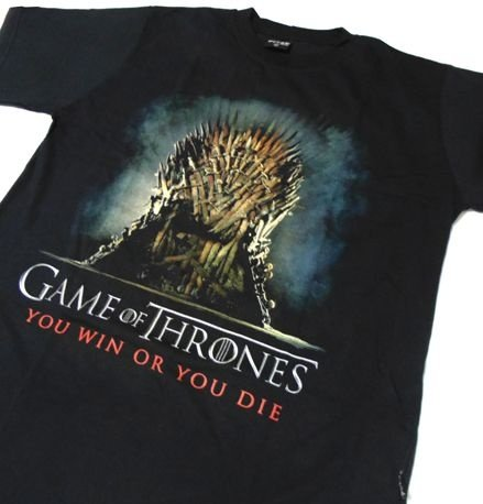 MH005 - Camiseta - Estampa GAME OF THRONES - You win or you die em SILK
