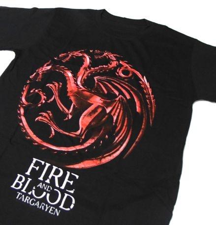 MH014 - Camiseta Estampa - Game Of Thrones - Dragon Fire and Blood Targaryen - em SILK