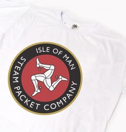ES075 - Camiseta - Estampa TT ISLE OF MAN  3 - Steam Packet Company