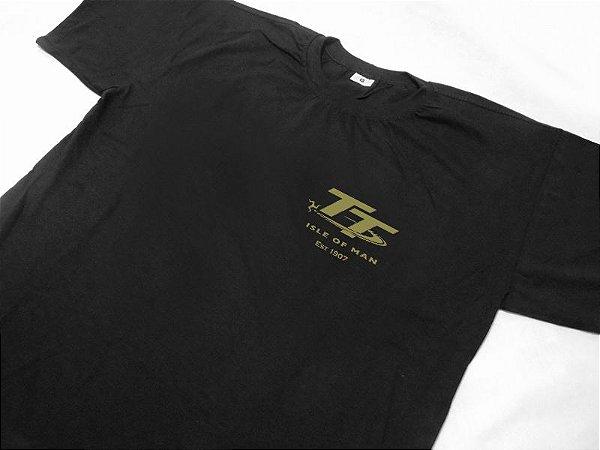 FR180 - Camiseta TT ISLE OF MAN - EST 1907 - GOLD