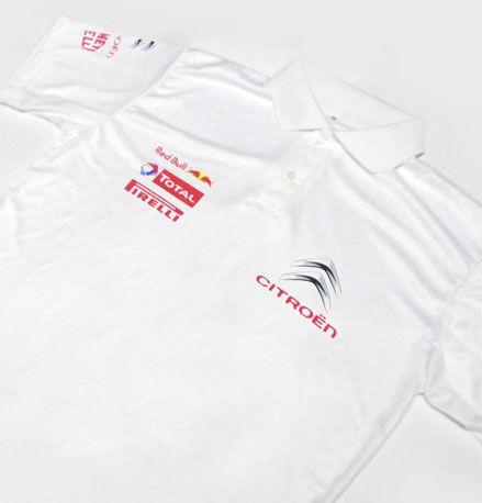 ES099 - Camisa Pólo Dry Fit - Estampa EQUIPE CITROEN WRC