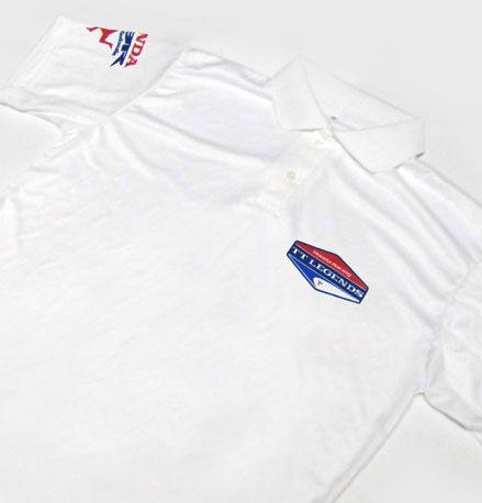 ES082 - Camisa Pólo Dry Fit - Estampa TT LEGENDS HONDA TEAM  ISLE OF MAN