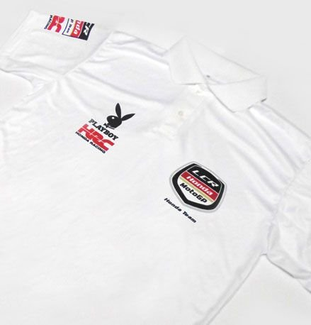 ES083 - Camisa Pólo Dry Fit - Estampa LCR HONDA TEAM - MOTO GP