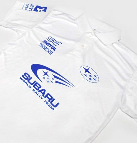 ES086 - Camisa Pólo Dry Fit - Estampa SUBARU RALLY TEAM  STI