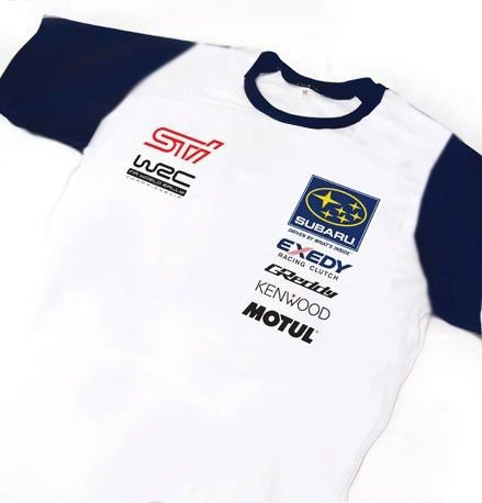 ES114 - Camiseta Bicolor Dry Fit - Estampa SUBARU WRC