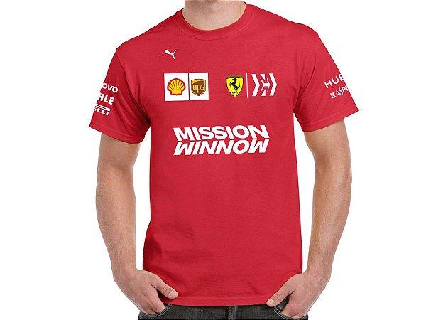 FR193 - Camiseta - Estampa Equipe Ferrari F1 - Base 2019