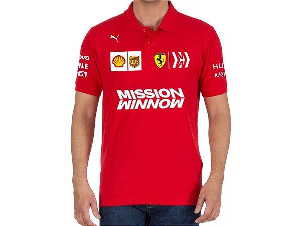 FR194 - Camisa Polo Equipe Ferrari - Base 2019 - F1