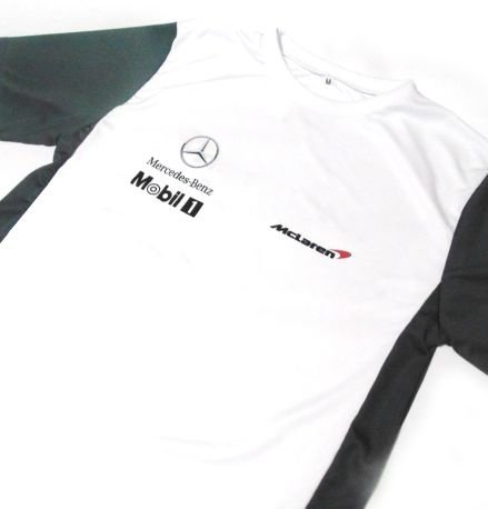 ES132 - Camiseta Dry Fit - Bicolor - Estampa Mclaren